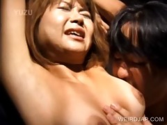 japanese sex serf getting snatch teased