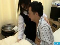 oriental schoolgirl visits mmf ally in hospital