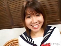 japanese schoolgirl rubbing titties