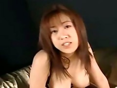 oriental hotty in lingerie masturbating fingering