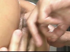 hawt oiled up hottie in a hot and sensual trio sex