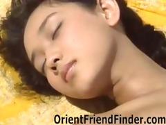 hawt oriental playgirl on the floor