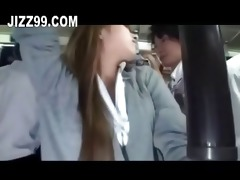 excited ol gives handjob and oral-service to bus
