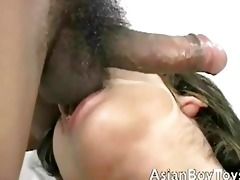 hung oriental homo chap got his curly booty licked