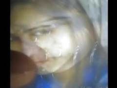 gman cum on face of an desi hawt honey in sari
