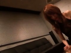 foxy japanese redhead angel humping starving penis