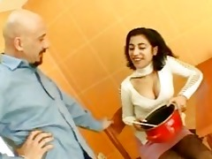 hot brunette hair indian bride talking with a chap