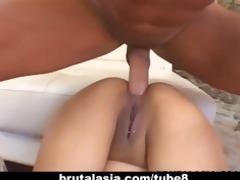 oriental skank annie cruz receives her arse