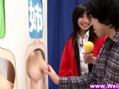 oriental babes bare in strange gameshow