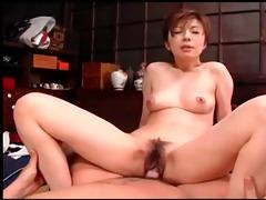 beautiful geisha seduces juvenile guy