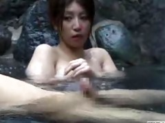breasty japanese cutie falls for throbbing wang