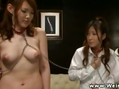 youthful asian babe ordered to disrobe for this