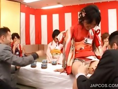 oriental seductress acquires leggs teased in group