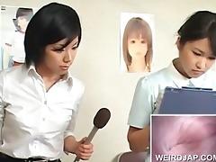 japanese hirsute wet crack check at the doctors