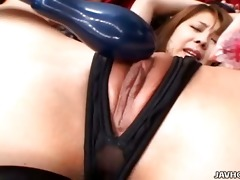 japanese playgirl receive snatch drilled by