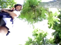 legal age teenager upskirt pants outdoor voyeur