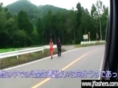 oriental japanese flasher receive hardcore sex