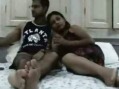 indian newly married couple enjoying their