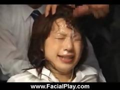 japanese hawt nubiles wicked facial and bukkake 42