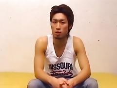 sexy oriental homo lad undresses and masturbates
